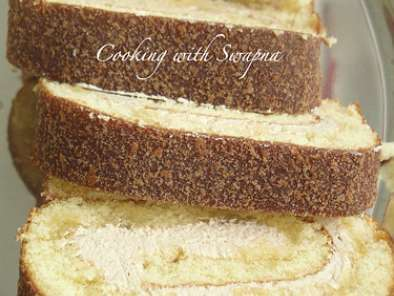 Recipe Tiramisu swiss roll