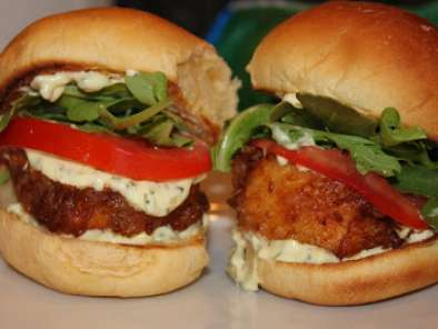 Recipe Simple beer battered halibut sliders & tacos