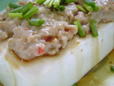Recipe Steamed tofu ~ beancurd