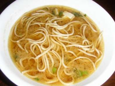 Recipe Miso soup with udon noodles