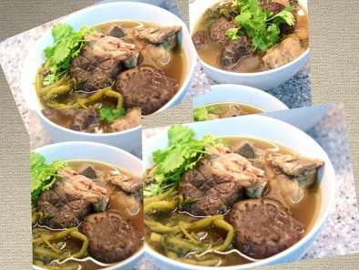 Recipe Watercress soup with mushroom & pork ribs