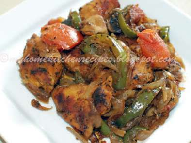 Recipe Baked chicken with sauteed vegetables