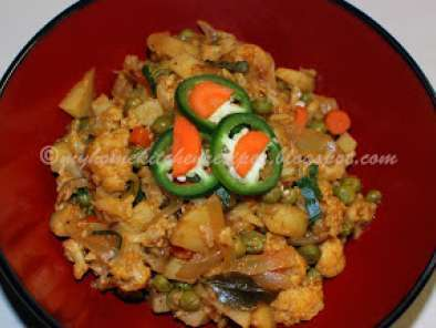 Recipe Mixed vegetable curry