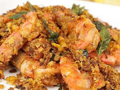 Recipe Butter cereal prawns