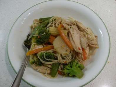 Recipe Teriyaki chicken with japanese somen noodles