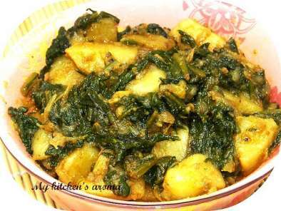 Recipe Alu palak / potato and spinach curry