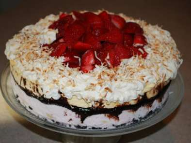 Recipe Banana split ice cream cake for dick's 27 th