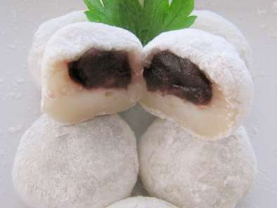 Recipe Quick and easy red bean mochi