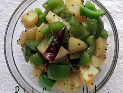 Recipe Potato capsicum upkari / stir fry