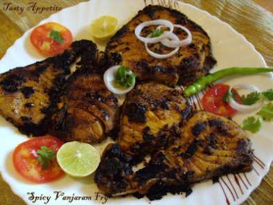 Recipe Spicy vanjaram fish fry / king / seer fish fry