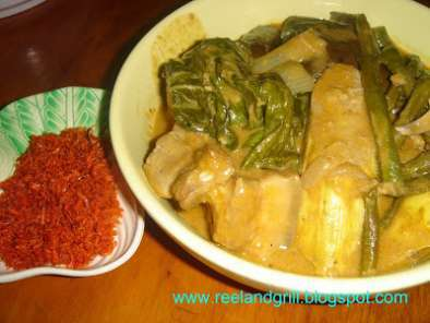 Recipe Kare-kare (meat and vegetables stewed in peanut sauce)