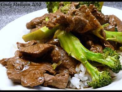Recipe Ginger beef with broccoli stir fry