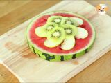 Step 3 - Watermelon pizza, the pretty fruit salad