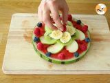 Step 5 - Watermelon pizza, the pretty fruit salad
