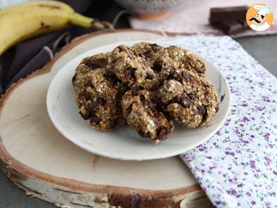 3 ingredient vegan cookies with banana and chocolate, photo 3