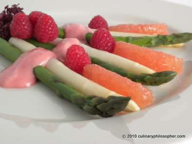 Asparagus and Ruby Red Grapefruit Salad with Fresh Raspberry Vinaigrette