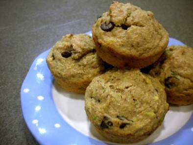Avocado Chocolate Chip Muffins