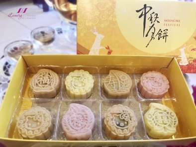 Baileys Snowskin Mooncakes with Black Sesame Paste