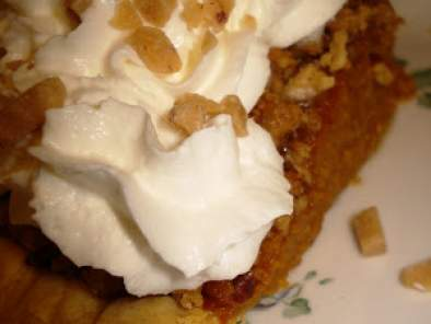 Birthday Treat: Pumpkin Apple Butter Pie with Toffee Struesel Topping, photo 2
