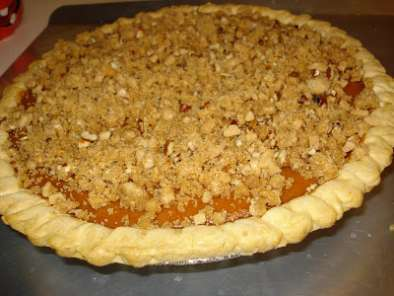 Birthday Treat: Pumpkin Apple Butter Pie with Toffee Struesel Topping, photo 3