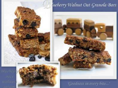 BLUEBERRY OAT WALNUT GRANOLA BARS...Yummy mouthful!, photo 5