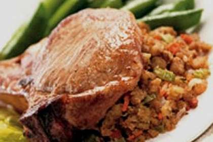 Cajun Stuffed Pork Chops Recipe Petitchef