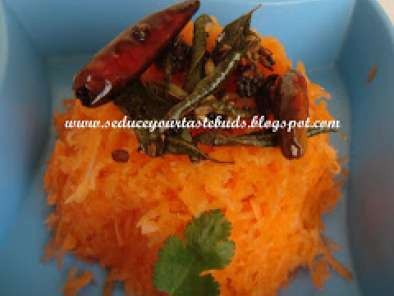 Carrot salad-Indian style...