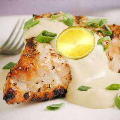 Celebrate father s day with grilled fish in creamy sauce for Creamy sauce for fish