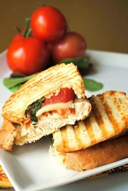 Chicken bacon panini, Recipe Petitchef