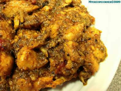 Chicken Pepper Chops( Chicken In Hot and Spicy Pepper Curry)