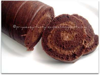 Chocolate Mousse Swiss Roll