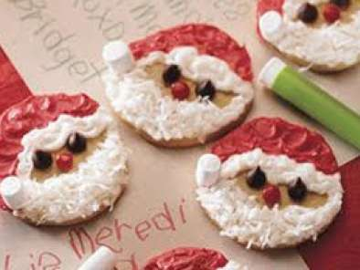 Christmas Easy Santa Cookies