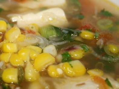 Corn Soup (Indian Style) - Vegetarian