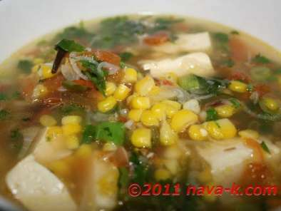 Corn Soup (Indian Style) - Vegetarian, photo 2