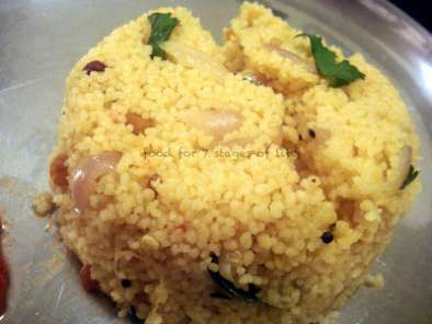 CousCous Upma/Kichadi with Fiery Tomato Ginger Chutney, Photo 3