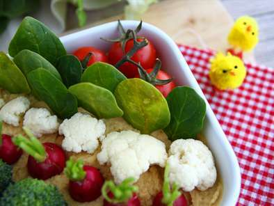 Easter vegetable garden (hummus and littles vegetables), photo 3