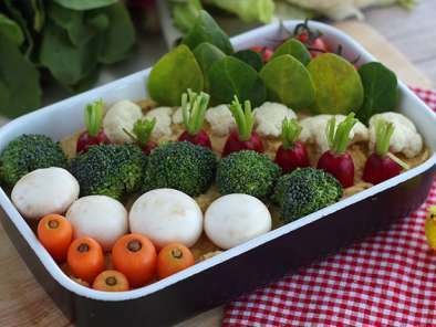 Easter vegetable garden (hummus and littles vegetables), photo 4