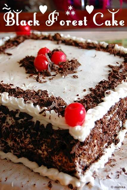 Eggless Black Forest Cake Recipe Petitchef
