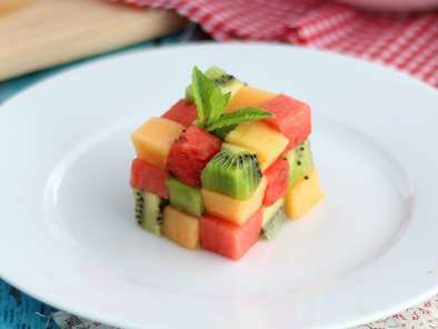 Fruit Rubik's cube, the design fruit salad