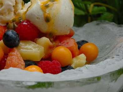 Fruit Salad with Passion Fruit and Vanilla Bean Ice-cream, Photo 2