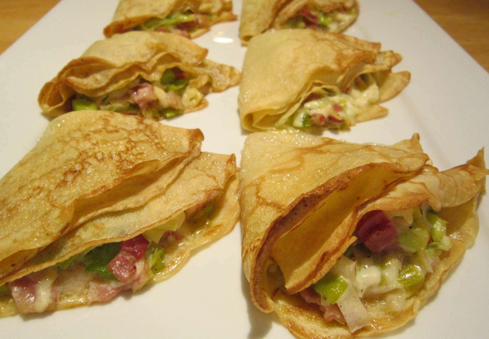Galettes poireau-fromage (buckwheat crepes with leeks and ...