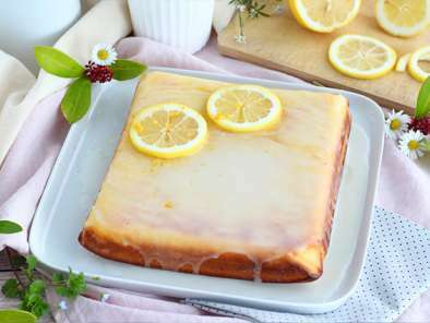 Glazed lemon brownies - Lemon bars