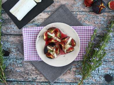 Goat cheese and honey figs