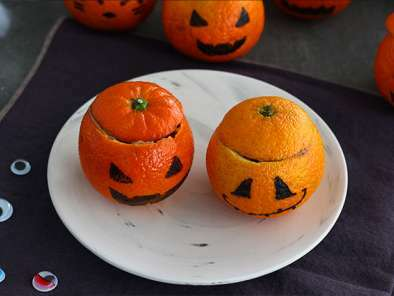 Halloween mandarins with chocolate mousse, photo 4