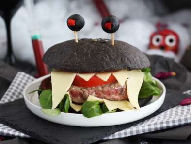 Halloween monster burger