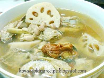 Lotus Roots with Peanuts Soup