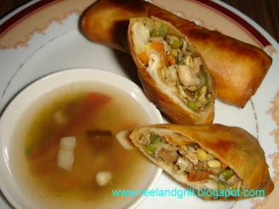 Lumpia or Lumpiang Prito or Lumpiang Gulay (Vegetable Spring Roll)