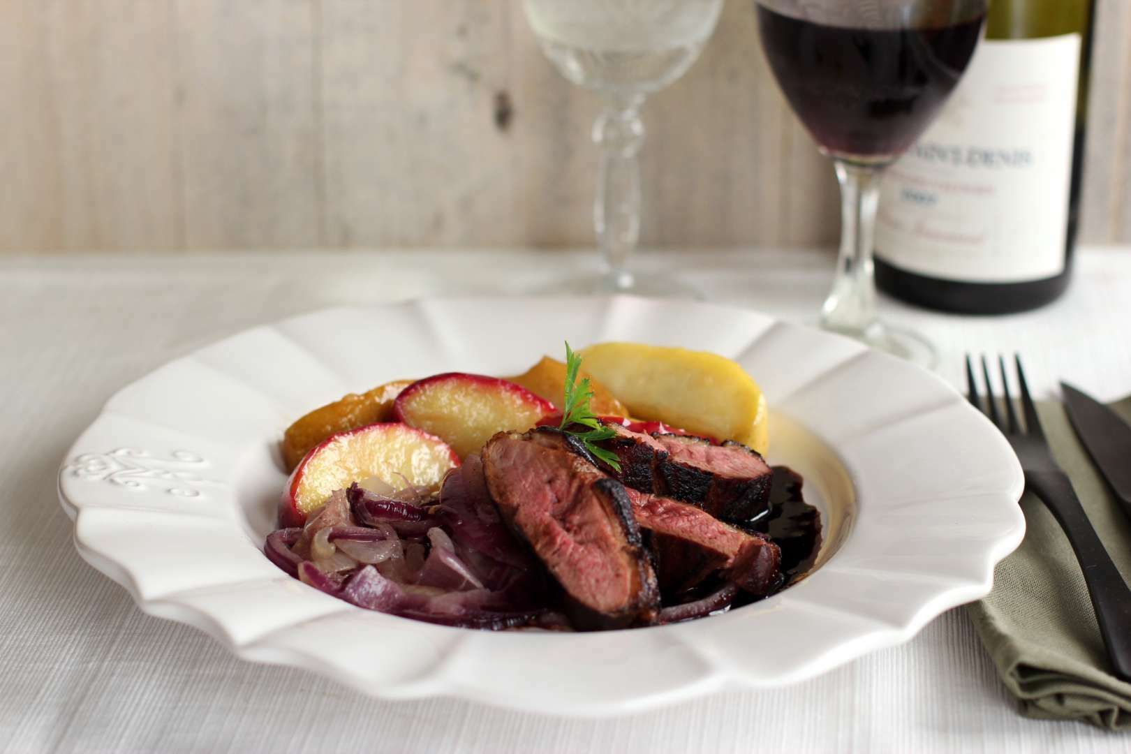 Magret de canard a l 39 aquitaine recipe petitchef for Chambre de sucre gourmet artisanal sugars