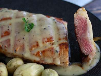 Magret duck breast with truffle sauce, Photo 4