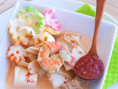 Lontong Sayur - Indonesian Cooked Vegetables in Coconut Milk with Rice Cake, Photo 2